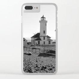 Point Wilson Lighthouse Pacific Northwest Clear iPhone Case