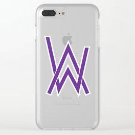 alan walker initial purple Clear iPhone Case