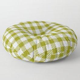 Olive Buffalo Plaid Floor Pillow