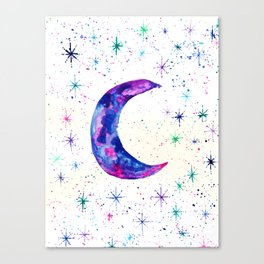 Dreamy Crescent Moon Phase Canvas Print