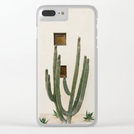Cabo Cactus IX Clear iPhone Case