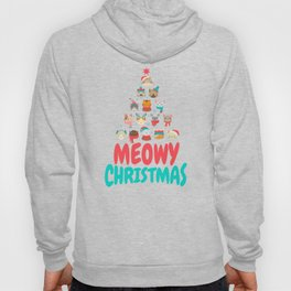 Meowy Christmas   Cat Xmas Tree Decoration Hoody
