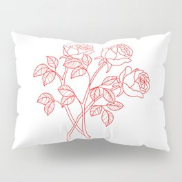 Red roses Pillow Sham