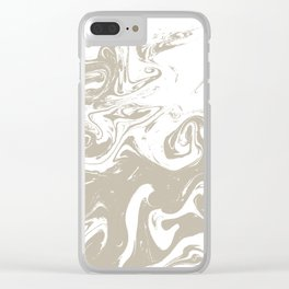 Spilled ink suminagashi marble marbled pattern minimal japanese pattern Clear iPhone Case