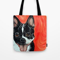 Boston Terrier Dog Art Tote Bag