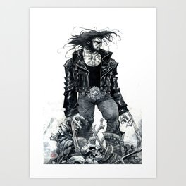 Logan watercolor by Roger Cruz Art Print