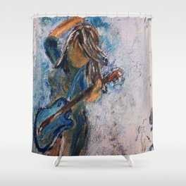 rock and roll goddess Shower Curtain