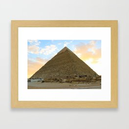 Great Pyramid or the Greatest Pyramid? Framed Art Print