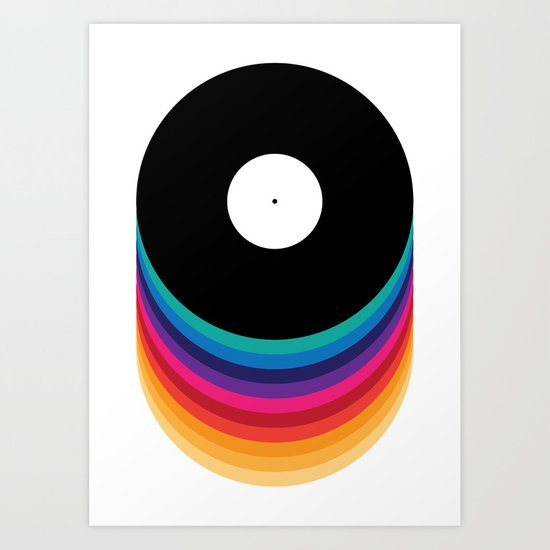 Happy Music Art Print