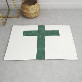 Christian Cross Lichen (Green) Rug