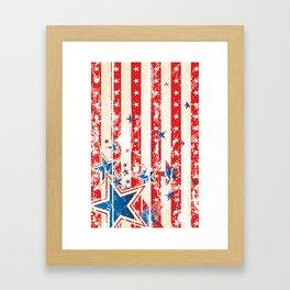 Vintage US Flag Framed Art Print