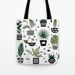 Boho Botanicals Pattern Tote Bag