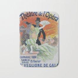 Carnaval, 1896 French Vintage Opera Poster Jules Cheret Bath Mat