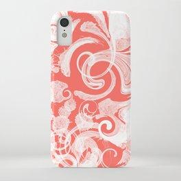Fresh Splash & Swirls Pattern — Coral iPhone Case