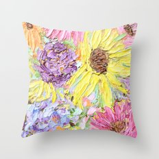 Autumnal Garden Throw Pillow