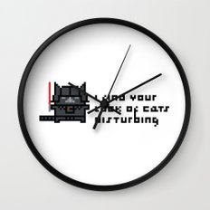 I find your lack of cats disturbing Wall Clock