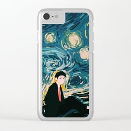 Taehyung Starry Night Clear iPhone Case