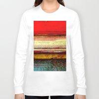 bali Long Sleeve T-shirts featuring Sunset in Bali by Sreetama Ray