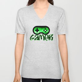 Gamer Green Unisex V-Neck