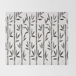 Black Bamboo Throw Blanket