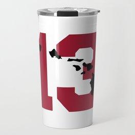 Aloha Tua - Red & Black Travel Mug