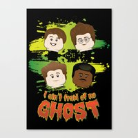 ghost busters Canvas Prints featuring Lego Busters by plopezjr