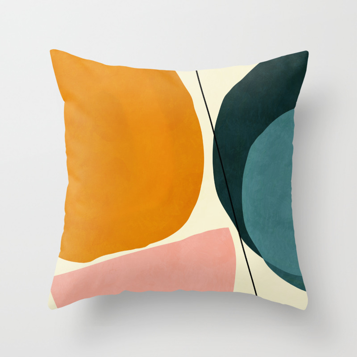 Shapes Geometric Minimal Painting Abstract Throw Pillow By Anarutbre Society6