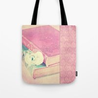 history Tote Bags featuring HISTORY by INA FineArt