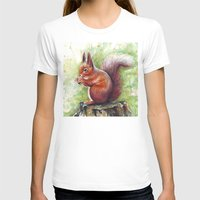 squirrel T-shirts featuring Squirrel by Olechka