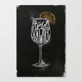 Spritz cocktail chalk color Canvas Print