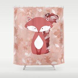 Cute Autumn FOX Design Shower Curtain