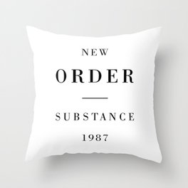 New Order Substance 1987 Throw Pillow