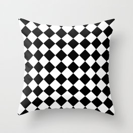 Contemporary Black & White Gingham Pattern - Mix and Match Throw Pillow