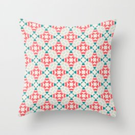 Merry Christmas party pattern Throw Pillow
