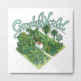 Garden World Metal Print