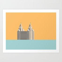 Liverpool Liver Building Print Art Print