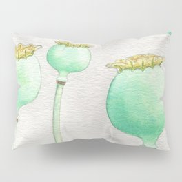 Four Poppy Pods Pillow Sham