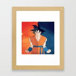 Minimalistic Goku Framed Art Print