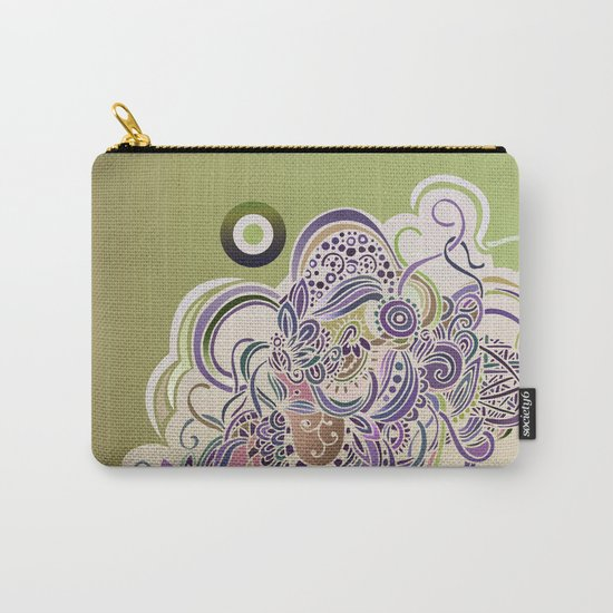 Detailed diagonal tangle Carry-All Pouch