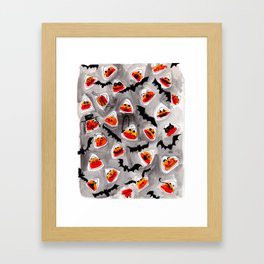 Halloween Candy Corn - Monsters - Trick or Treat Framed Art Print