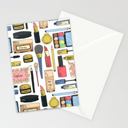 Cosmetic pattern Stationery Cards
