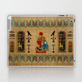 Hathor Egyptian Ornament on papyrus Laptop & iPad Skin