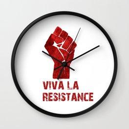 Viva La Resistance Wall Clock