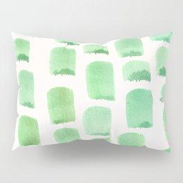 Sea foam to Pistachio Serene Green Minimalist Watercolor Pillow Sham