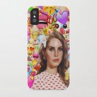 lana del rey iPhone & iPod Cases featuring LANA DEL EMOJI by ICANWASHAWAY