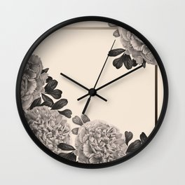 Flowers on a winter day Wall Clock