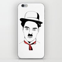charlie chaplin iPhone & iPod Skins featuring Charlie Chaplin by ArpanDholi