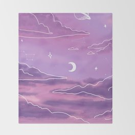 Purple Sunset View Throw Blanket
