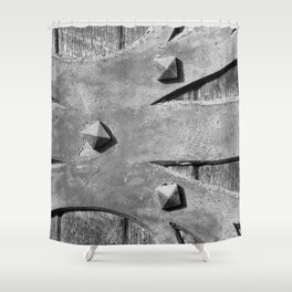 Hinges On The Cathedral Door Shower Curtain