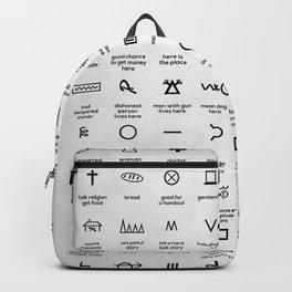 Hobo Symbols Backpack